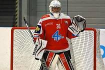 Mládežnický reprezentant a brankář HC Olomouc Jan Špunar