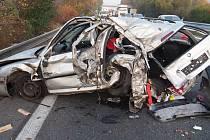 Ranní nehoda na D35 ve směru z Mohelnice na Olomouc, 22. 10. 2019