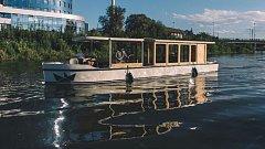 Nová olomoucká vyhlídková loď  na řece Moravě