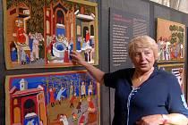 Výstava gobelínových replik Věry Mičkové v Arcidiecézním muzeu v Olomouci