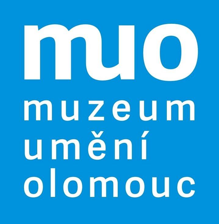 Současné logo Muzea umění Olomouc vytvořené Petrem Šmalcem a používané od roku 2014