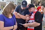 Představení nových dresů a autogramiáda HC Olomouc na Horním náměstí