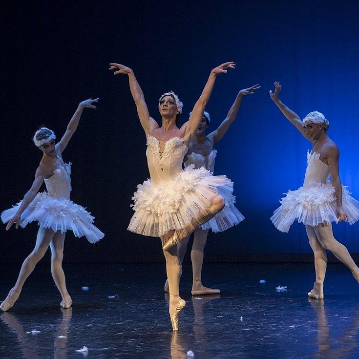 Michal Štípa. Ballet Hommes Fatals - soubor špičkových baletních umělců - mužů, kteří tančí slavné ženské role ze známých baletů. Na snímku Labutí jezero