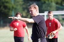 Letní příprava fotbalistů HFK Olomouc - Trenér Oldřich Machala