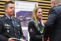 Policisté z celého okresu převzali v Olomouci medaile za zásluhy. Ceremoniál proběhl v aule Pedagogické fakulty Univerzity PalackéhoFoto: Deník / František Berger