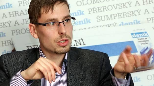 Filip Žáček při on-line rozhovoru pro Deník