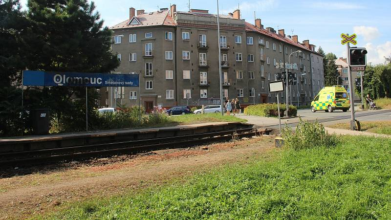 Železniční zastávka Olomouc-Smetanovy sady, 13. září 2021