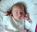 Natálie Vymlátilová, Tři Dvory, narozena 2. září ve Šternberku, míra 48 cm, váha 2820 g