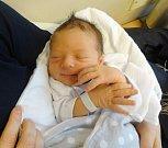 Jonáš Vaculík, Mohelnice narozen 23. března, míra 50 cm, váha 3290 g