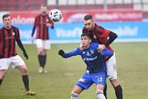 3. kolo MOL Cupu: Sigma Olomouc - Domažlice 3:1. Mojmír Chytil (v modrém)