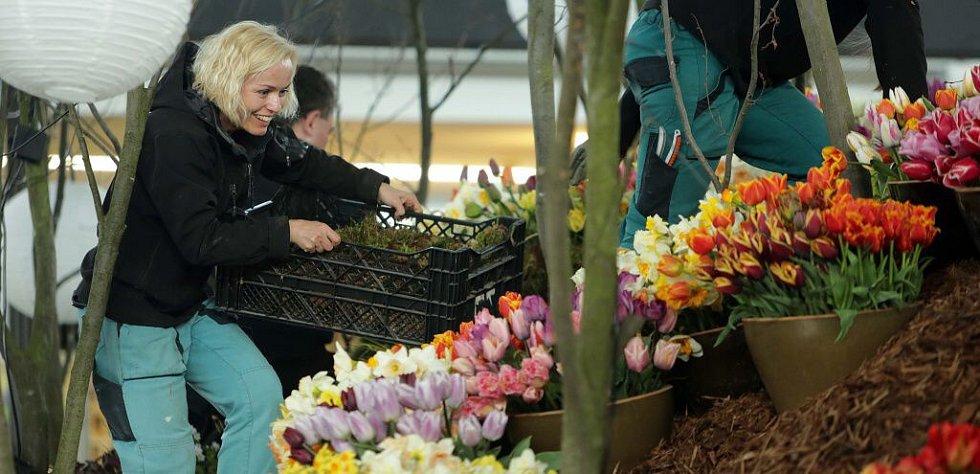 Poslední přípravy na jarní Floru 2015
