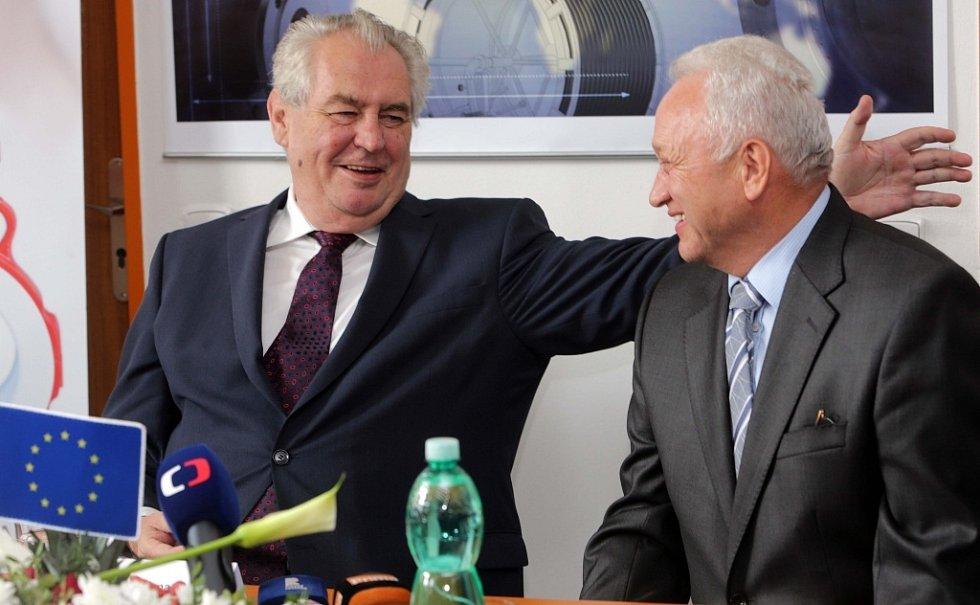Návštěva prezidenta Miloše Zemana ve firmě ABO