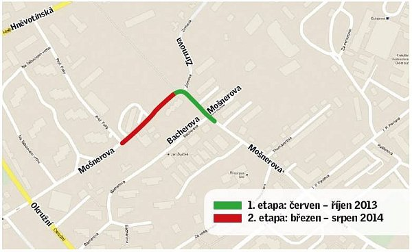 Plánované opravy ulic na Tabulovém vrchu