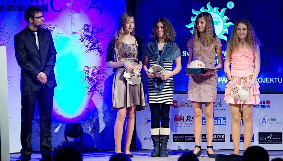 Vyhlášení ankety Nejlepší sportovec Olomoucka 2012: šermířské družstvo mladších žákyň Dukly Olomouc