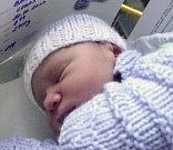 Lukáš Barkoci, Chodov u Karlových Varů, narozen 20. října v Olomouci, míra 48 cm, váha 2700 g