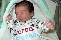 Vojtěch Kolář, Červenka, narozen 9. listopadu, míra 50 cm, váha 3540 g