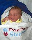 Dominik Zahrádka, Šternberk, narozen 5. února, míra 48 cm, váha 3240 g