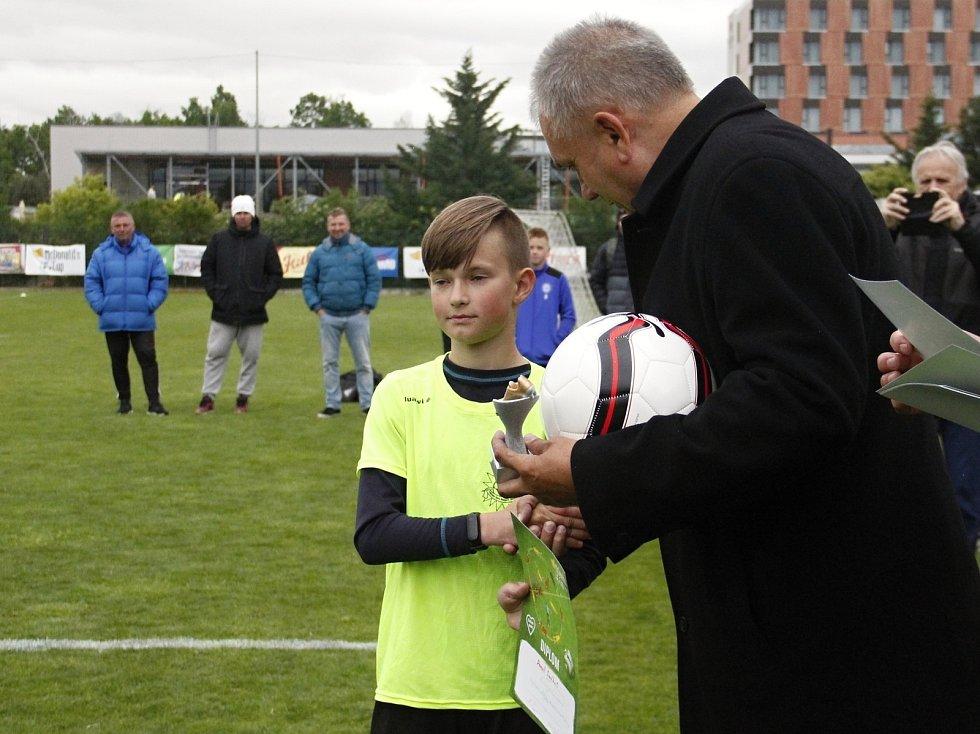 Nejlepší střelec turnaje starších žáků Daniel Smékal (Šumperk).