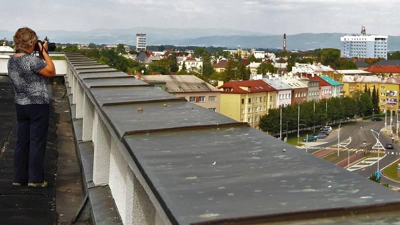Výhled ze střechy Hotelového domu Olomouc, 11. 9. 2021
