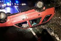 Nehoda  v Kopřivné se zraněním