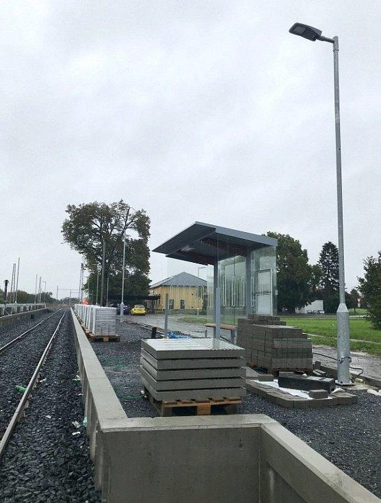 Bohuňovice, modernizace tratě Olomouc - Šternberk, 14. října 2020
