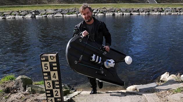 Hydrolog Jan Unucka z ostravské pobočky Českého hydrometeorologického ústavu.