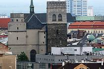 Chrám sv. Mořice v Olomouci před opravou. Ilustrační foto