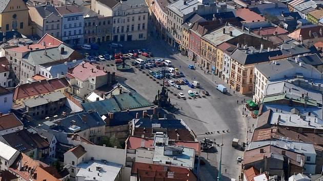 Dolní náměstí v Olomouci.