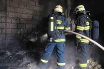 Požár v objektu zámečnické společnosti v Bohuňovicích