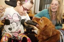 Předání asistenčního psa Rosie handicapované dívce Julince