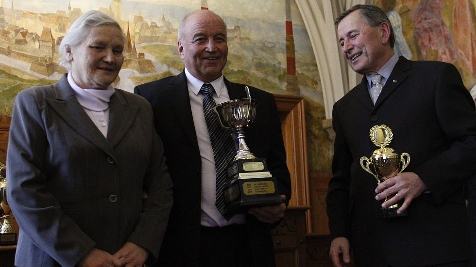 V Olomouci byly předány ceny pro nejlepší sportovce okresu za rok 2018. Dan Matuška (uprostřed) získal Cenu Drahoše Válka