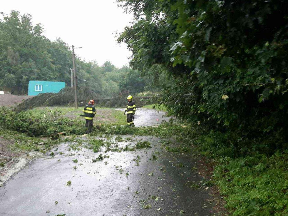 Následky silných bouřek ve čtvrtek 13. června v Olomouckém kraji