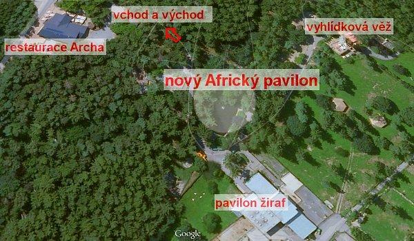 Místo volomoucké zoo, kde vyroste Africký pavilon