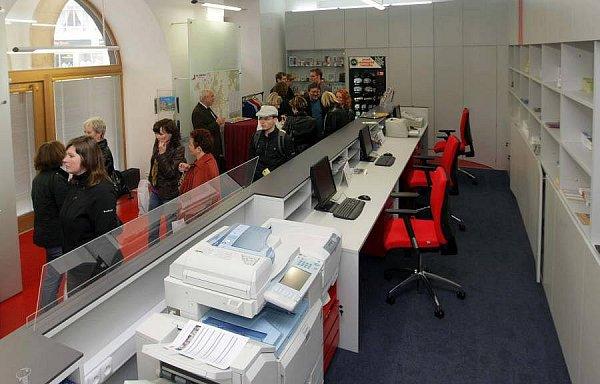 Zrekonstruované infocentrum vpodloubí radnice