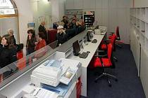 Zrekonstruované infocentrum v podloubí radnice
