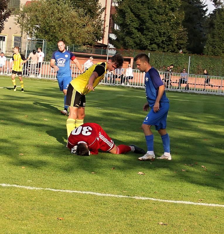 Fotbalisté Nových Sadů porazili doma lídra divizní tabulky Kozlovice 4:1 (3:0).