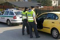 Policejní kontrola ve Velké Bystřici