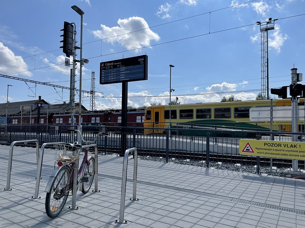 Modernizovaná trať 290, úsek Šternberk-Uničov, 23. srpna 2021
