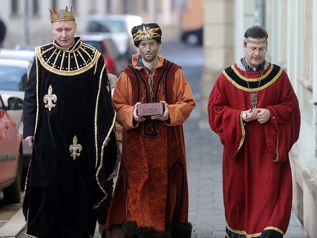 Tři králové v ulicích Olomouce