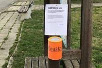 Distribuční síť na roušky v Tršicích na Olomoucku