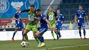 Fotbalisté Sigmy Olomouc (v modrém) podlehli Mladé Boleslavi 0:4. Foto: Deník/Jan Pořízek