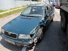 Tato havárie, která se v pátek stala v Olomouci–Neředíně, se naštěstí obešla bez vážných následků.