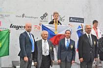 Závodníci Akademie karate Olomouc na MS v Německu.Viktor Škařupa