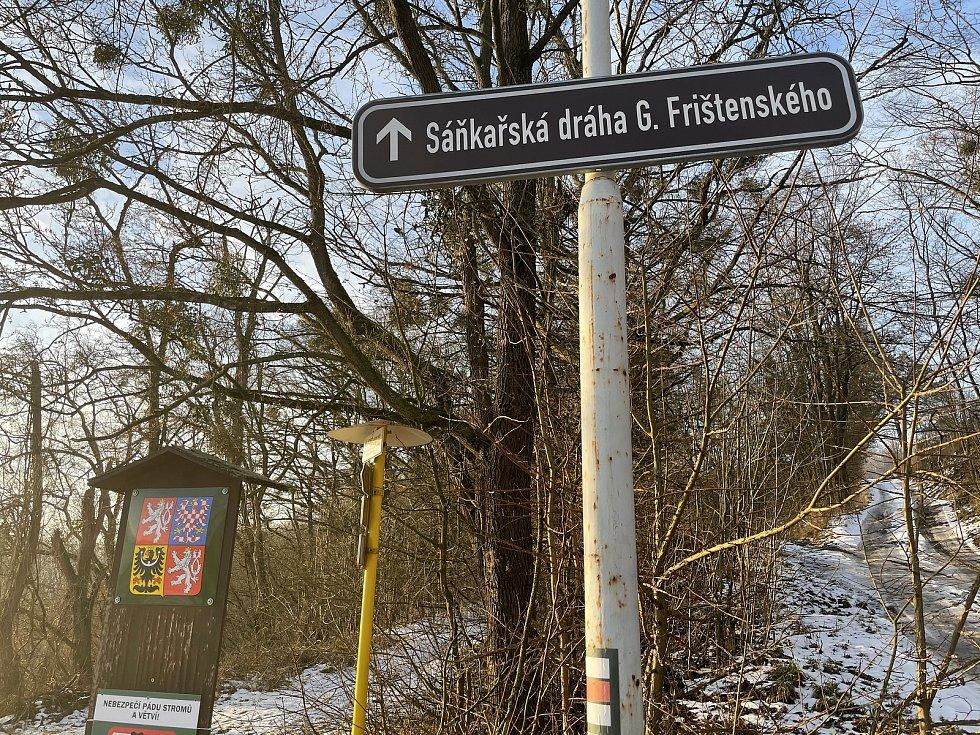 Sáňkařská dráha Gustava Frištenského, 22. ledna 2021