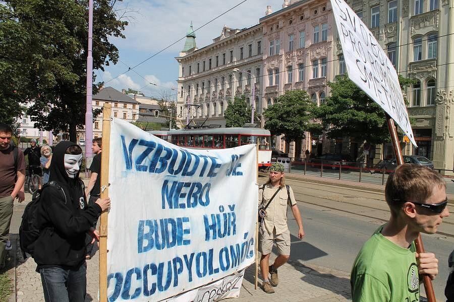 Protest proti věznění Romana Smetany v Olomouci