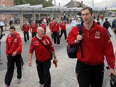Pendolino přivezlo českou fotbalovou reprezentaci do Olomouce
