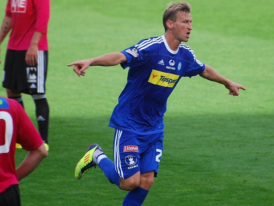 Marek Heinz slaví gól