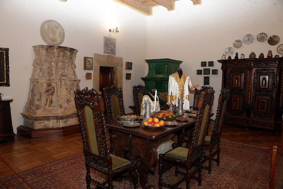 Vánoční výzdoba na hradě Šternberk. Prosinec 2020