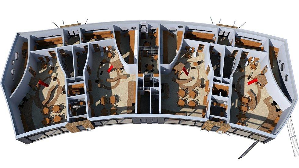 Vizualizace interiérů budoucí Waldorfské mateřské školy v Olomouci