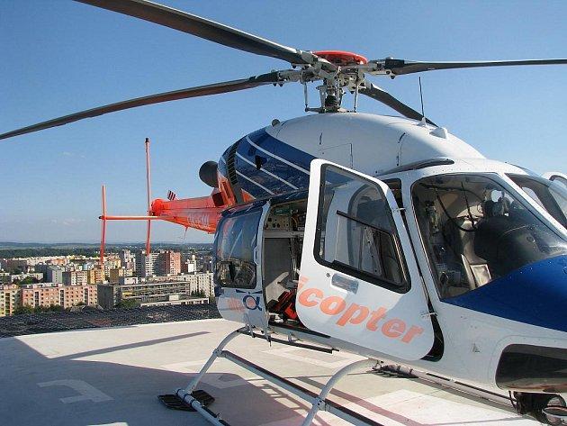 Vrtulník olomoucké záchranky